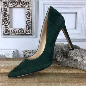NINE WEST | Green Suede Tatiana Pointy Toe Pumps